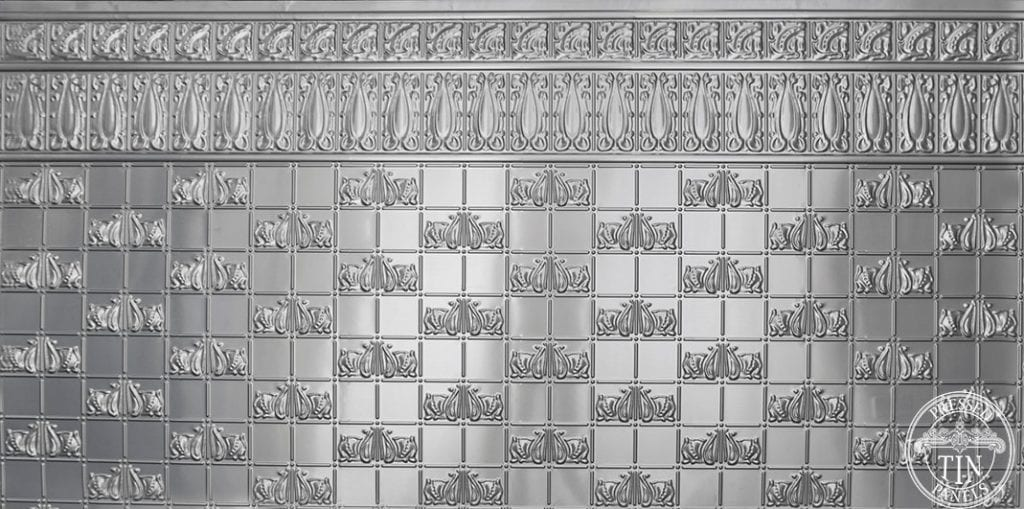 Full Size panel image example of Pressed Tin Panels Wall Panel design