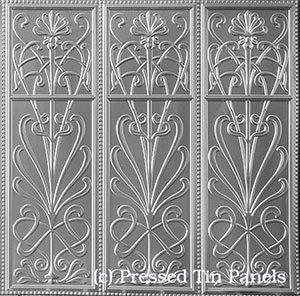 Pressed Tin Panels Wildflower -Three Pattern Repeats-Dado Wall Panel