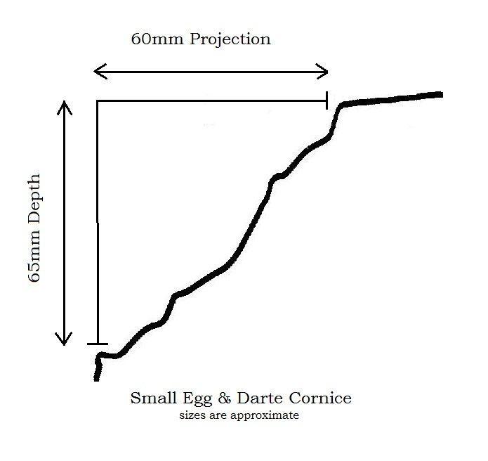 Small Egg & Darte Cornice profile information