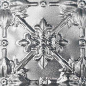 original pressed tin panels close up