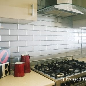 Brick Splashback Kitchen MercurySilver