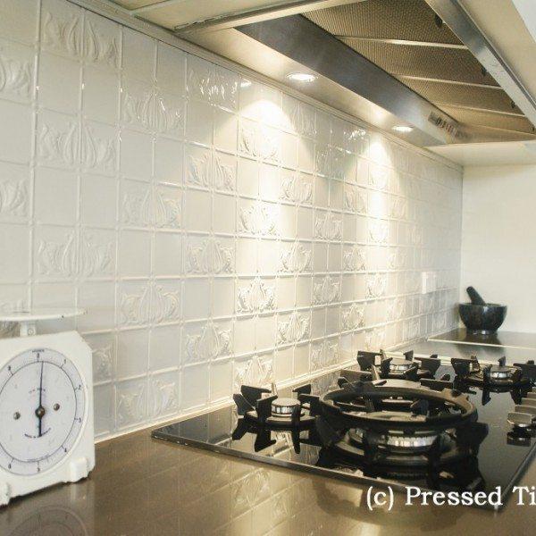 Pressed Tin Panels_Wall Panel Splashback  Grey Nurse