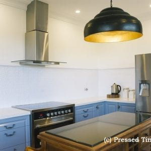 Pressed Tin Panels Lachlan Hearts Kitchen Splashback BrightWhite