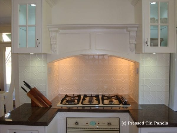 Pressed Tin Panels Mudgee Splashback BrightWhite
