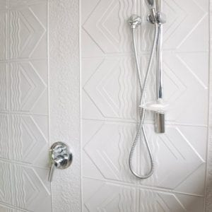 Pressed Tin Panels Bondi Shower Mercury Silver