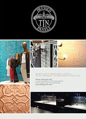 Pressed Tin Panels Brochure Front Page