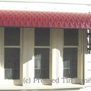 Pressed Tin Panels Fish Scale Awning