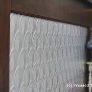 Pressed Tin Panels Fish Scale Counter Front_Aluminium