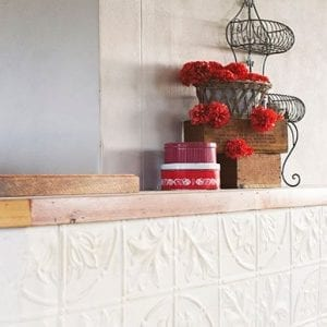 Pressed Tin Panels Large Maple Feature Bar