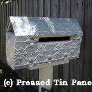 Pressed Tin Panels Original Mailbox