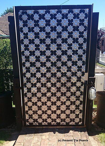 Pressed Tin Panels Original Outdoor Gate