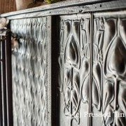 Pressed Tin Panels Shield Fish Scale Counter Front