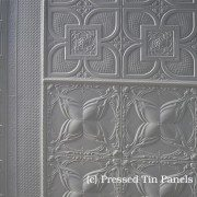 Pressed Tin Panels Wattle Border Rough Cast