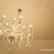 Pressed Tin PanelsCarousel Ceiling Raked White Satin