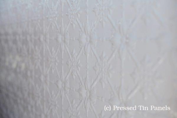 Pressed Tin Panels Original White Dado Feature Wall