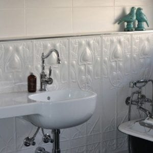 Pressed Tin Panel Art Nouveau Dado Bathroom Heritage Ceilings