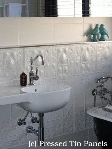 PressedTinPanel Art-Nouveau Dado Bathroom Heritage Ceilings