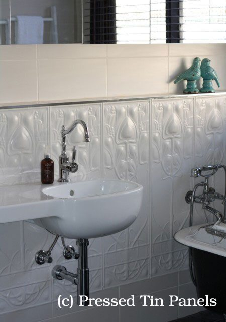 Art Nouveau Bathroom Dado Wall