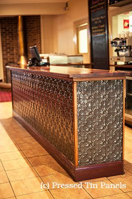 Pressed Tin Panels kelso hotel front counter