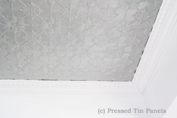Pressed Tin Panels Mercury Silver Beresford Cornice