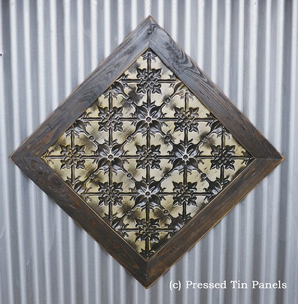 Pressed Tin Panels Original Counter Front Framed