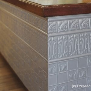 Pressed Tin Panels Counter Front Dado Egg Darte Cornice