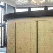PressedTinPanels_Counter Front Dado Wall Panel Lily Posy