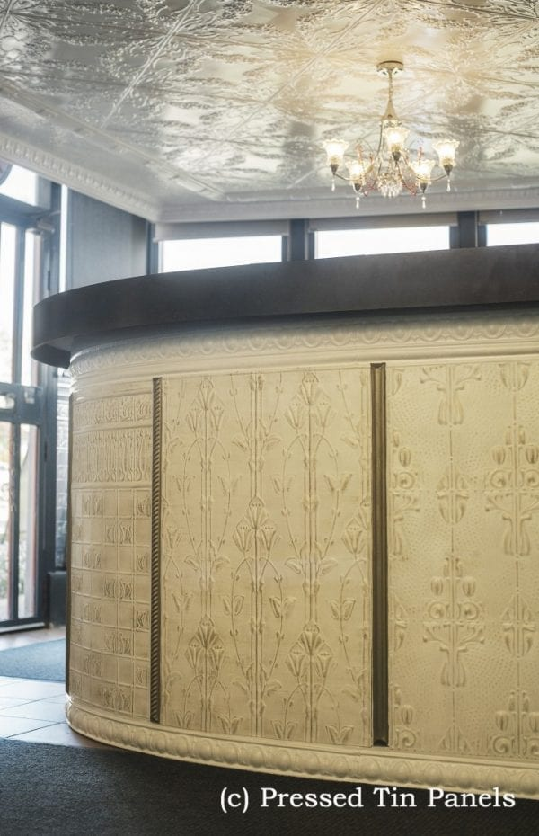 Pressed Tin Panels Counter Front Dado Wall Panel Lily Posy