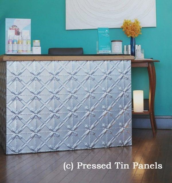 Pressed Tin Panels Lattice Counter Front