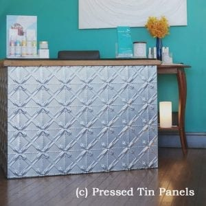 Pressed Tin Panels Lattice Counter Front