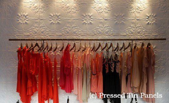 PressedTinPanels_Lotus Feature Wall Retail