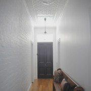PressedTinPanels_Original Hallway Ceiling Small Rough Cast Small Grate Cornice