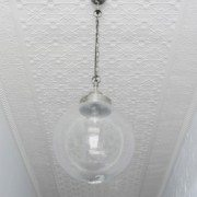 PressedTinPanels_Original Hallway Ceiling Small Rough Cast Small Grate Cornice_