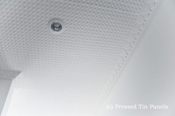 Pressed Tin Panels Stars Ceiling Bondi Cornice White