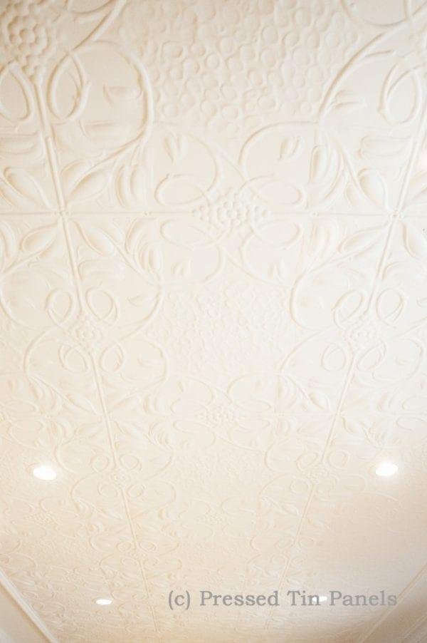 Pressed Tin Panels Vines Ceiling Egg Darte Cornice White
