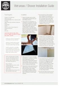 Wet Areas Showers Installation-Guide