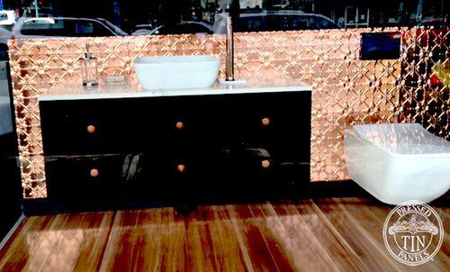 Pressed Tin Panels Original Copper Just Bathroomware Drummoyne