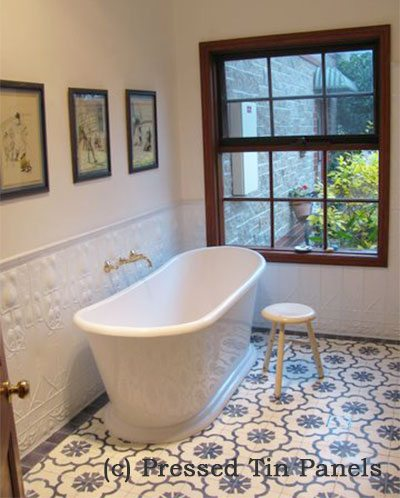 Art Nouveau – Bathroom & Shower – White