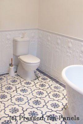 pressedtinpanels_artnouveau900x1800_whitedadofeature_toilet