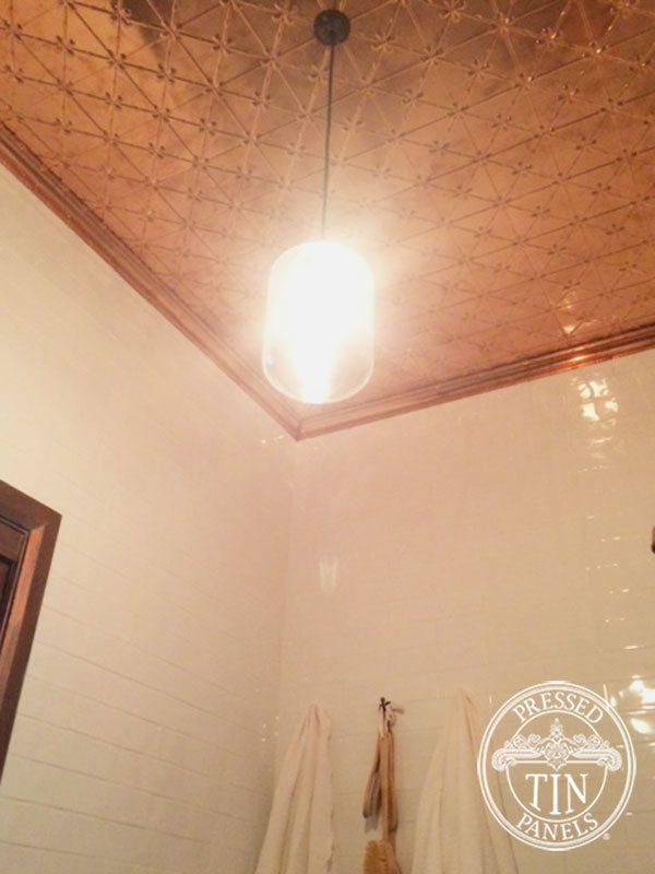 Clover Copper Bathroom Ceiling
