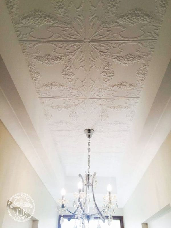 Pressed Tin Panels Flannel Flower ceiling