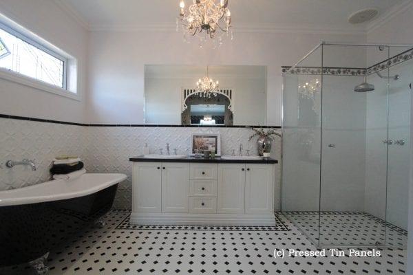 Pressed Tin Panels Lattice 900x1800 Bathroom