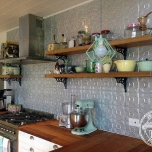 Pressed Tin Panels 'Evans' kitchen splashback