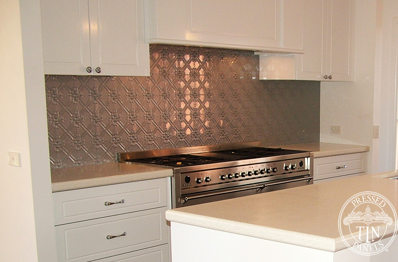 Maze Mercury Silver Kitchen Splashback