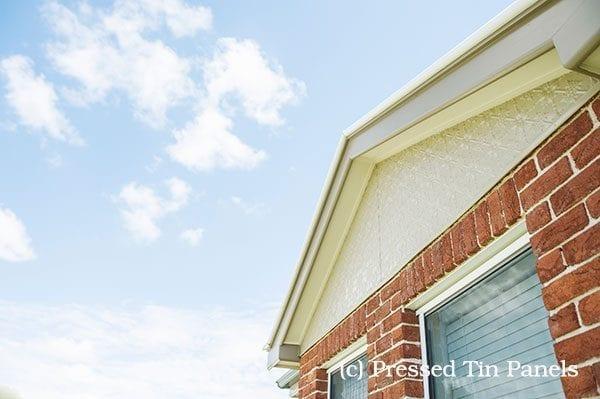 Pressed Tin Panels 'Original' pattern House Gable End
