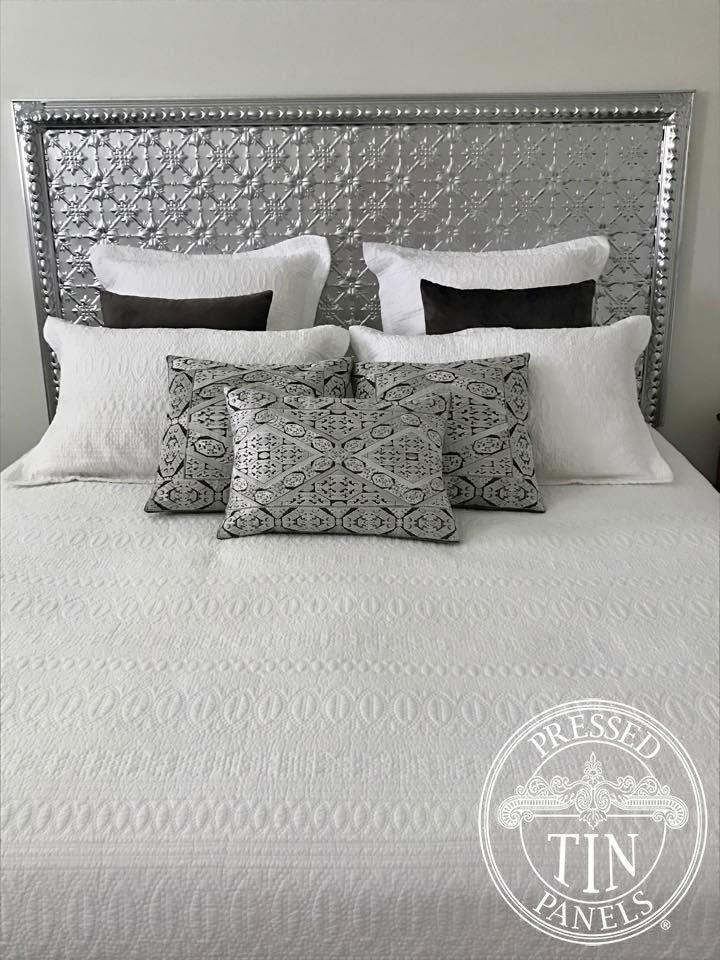 Pressed Tin Panels Bedhead made from Kit-Original