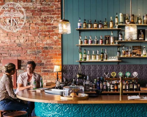 Pressed Tin Panels 'Spades' panel used in the bar area of Buck Mulligans VIC. Supplied by Period Details
