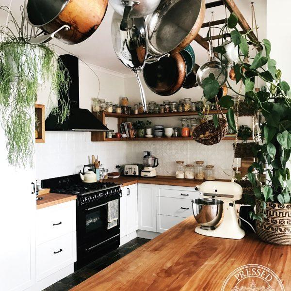 Snowflakes in Interpon White Satin kitchen splashback