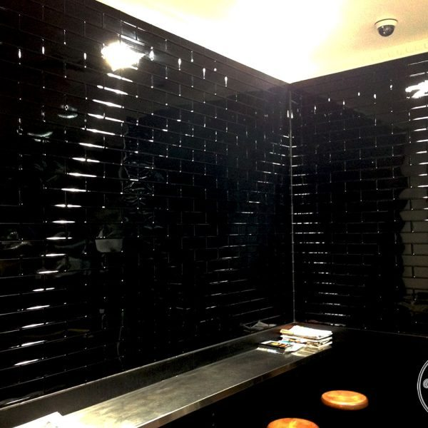 The Brewed Coffee House in WA used the Brick panels in Black Gloss powder coat