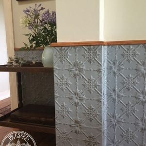 Pressed Tin Panels Original pattern installed as dining room dado wall feature